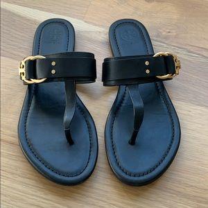 Black Tory Burch thong sandals